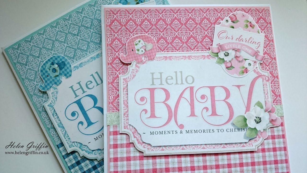 Hello Baby Girl 8x8 Envelope Mini Album Tutorial Video