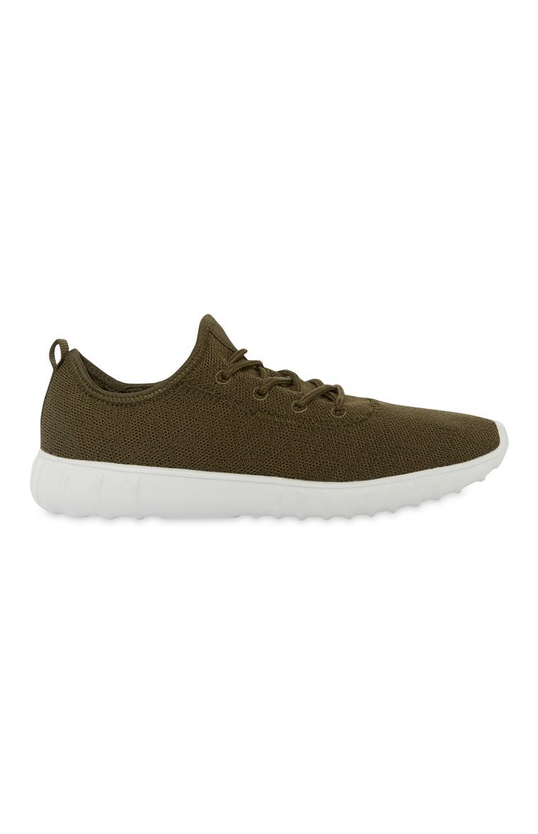 Primark - Khaki Knit Trainer  9d4282f2bfd