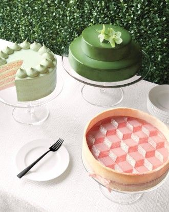 """See the """"Serve a Statement Cake"""" in our 6 Blush and Green Ideas for a Soft-Meets-Strong Impact at Your Wedding gallery"""