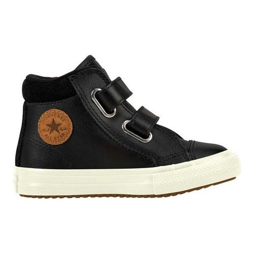 c902c6ec7eef13 Infants Toddlers Converse Chuck Taylor All Star 2V High Top Padded Cuff  Boot Hook and Loop