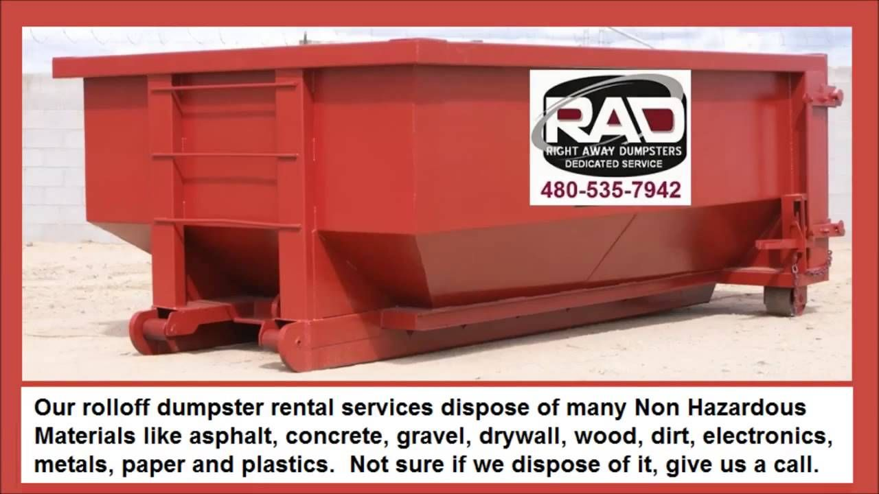 Right Away Disposal Roll Off Dumpsters Are 2 Ft Longer