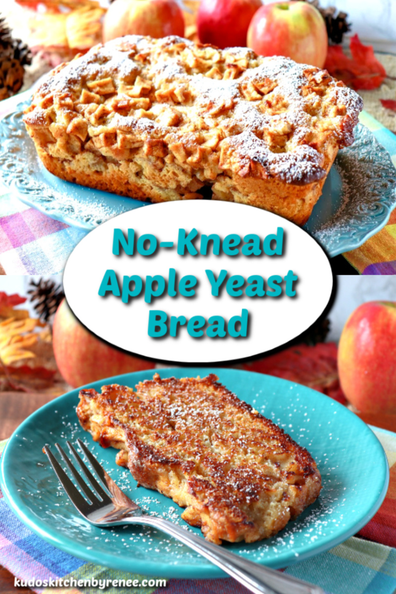 No Knead Apple Yeast Bread