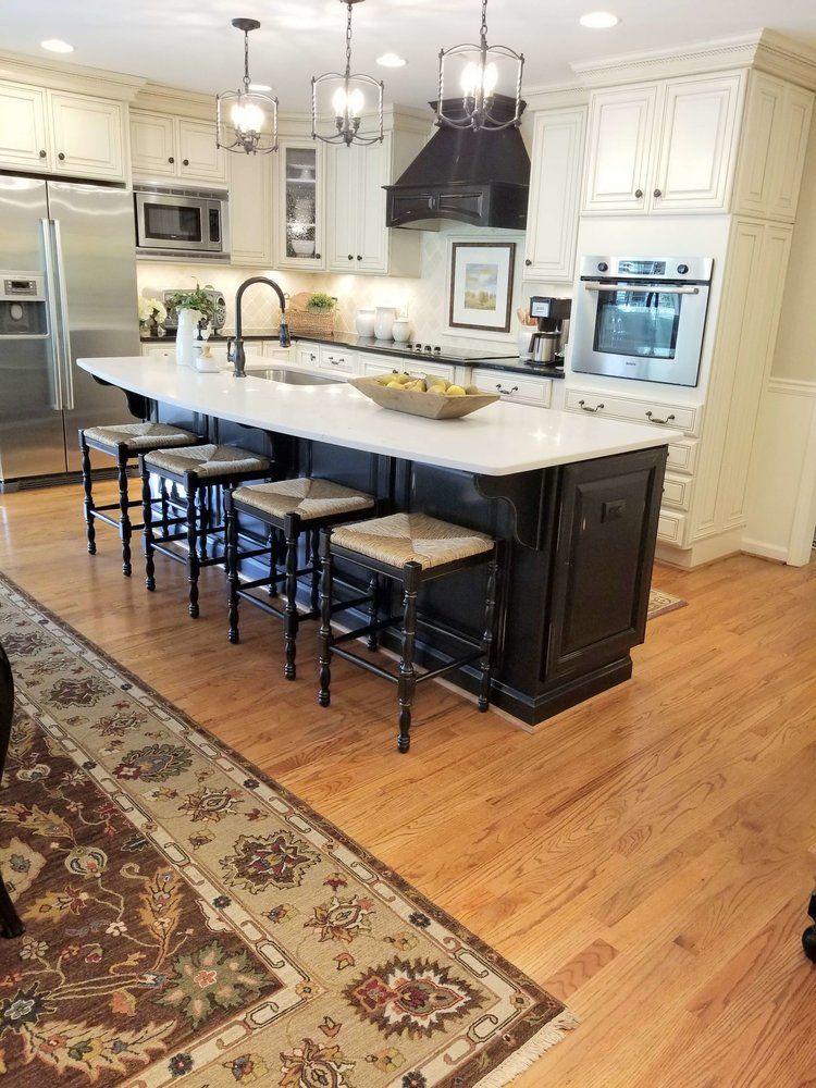 After New Caesarstone Countertop On Kitchen Island Caesarstone Quartzcountertop Kitcheni Kitchen Remodel Countertops Island Countertops Kitchen Design Diy