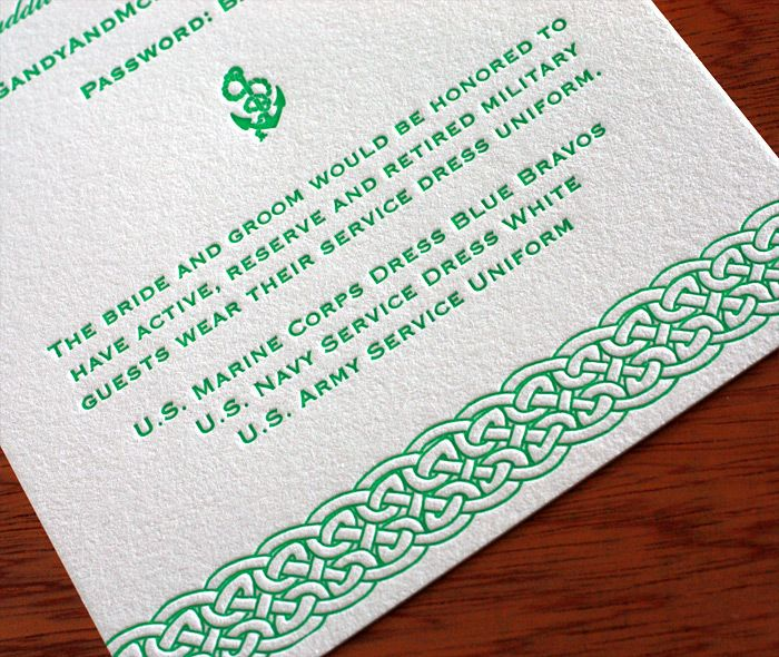 Celtic And Nautical Letterpress Wedding Invitation Invitations By Ajalon Http Www Invitationsbyajalon