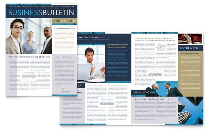 Images and text should balance each other out on your brochure - company newsletter template free