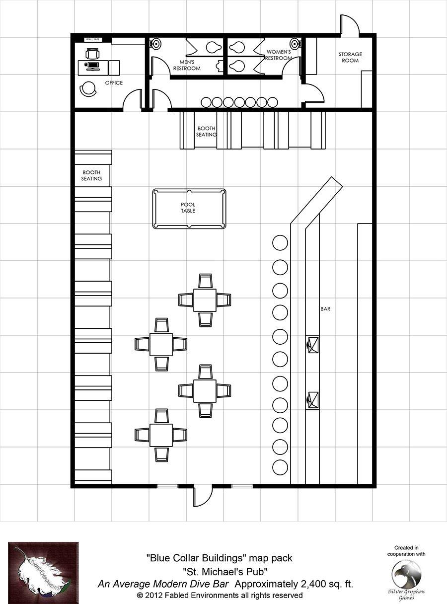 Modern Floorplans: St. Michael\'s Pub-An Average Modern Dive Bar ...