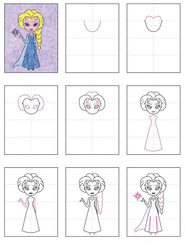 Arte Creativa Per Bambini Disegni Facili Da Copiare Per Bambini