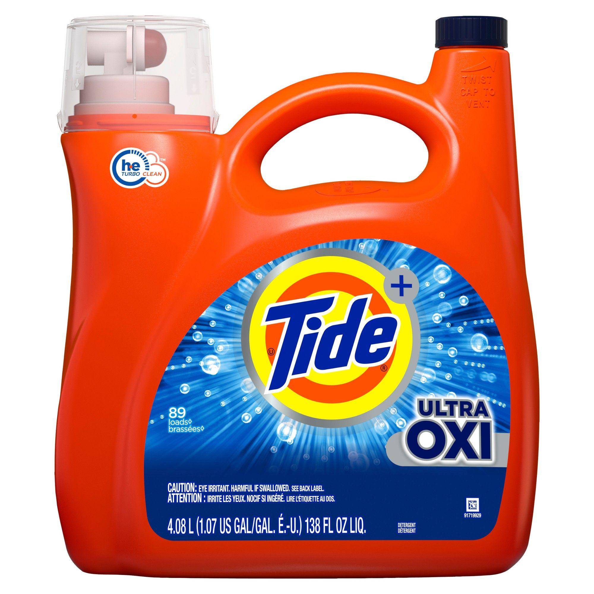 Tide Plus Ultra Oxi Liquid Laundry Detergent 138 Fl Oz Laundry