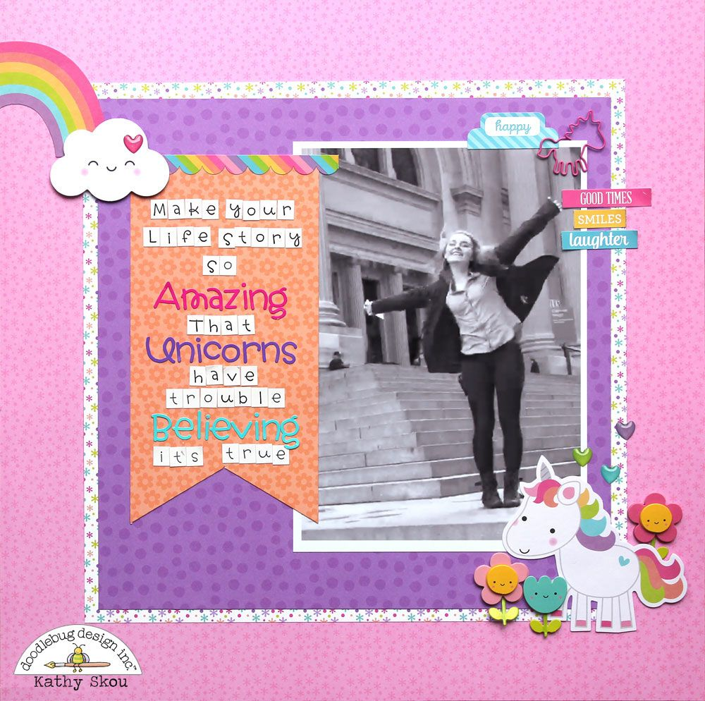 Scrapbook ideas rainbow - It S Kathy Today With A Couple Of Layouts I Created Using The Adorable A Rainbowscrapbook