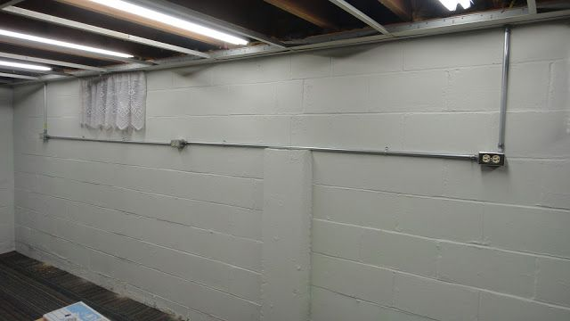Basement Ceiling Electrical Outlet