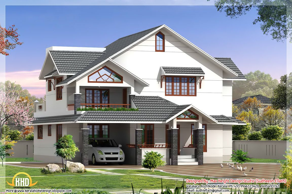 Indian Style House Elevations Kerala Home Design Floor