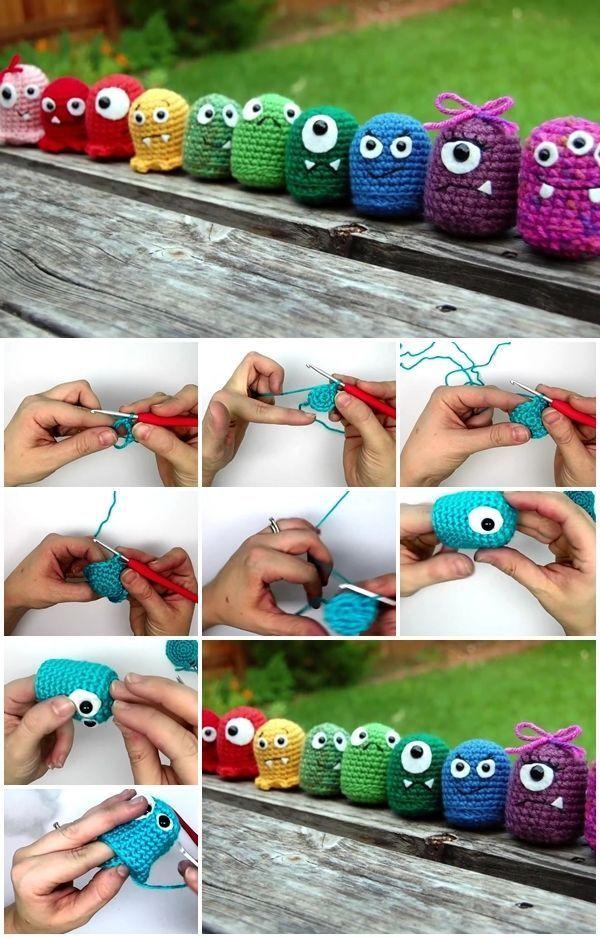 Wie man Amigurumi-Babymonster häkelt,  #AmigurumiBaby #AmigurumiBabymonster #häkelt #man #wie #knittingpatternstoys