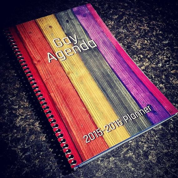 (Currently listed for $2 off because calendar starts in JUNE)  Youve heard about it on Fox News! The GAY AGENDA.  The essential planner for anyone who