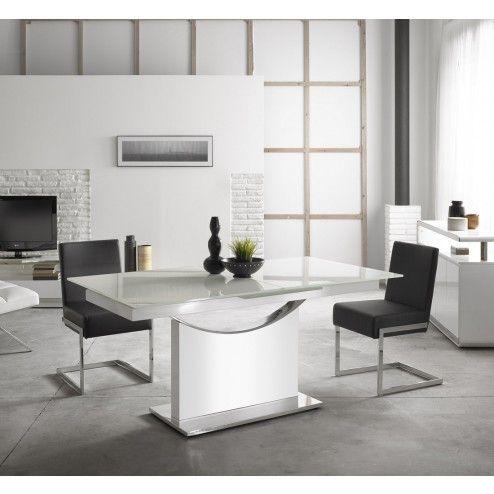 Mesa comedor extensible moderna negra sn103 de angel cerd - Sofas de diseno moderno ...