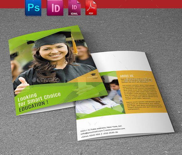 educational bi fold brochure template promote the educational