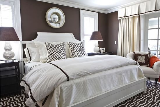 Chambre Marron et Blanc | Master bedroom | Pinterest | Master ...