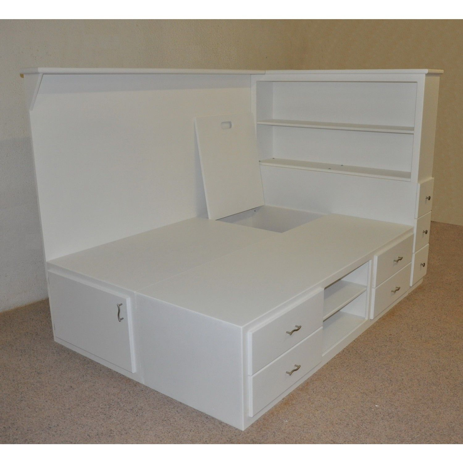 Orlando Platform Bed W Storage Bedroom Small Room