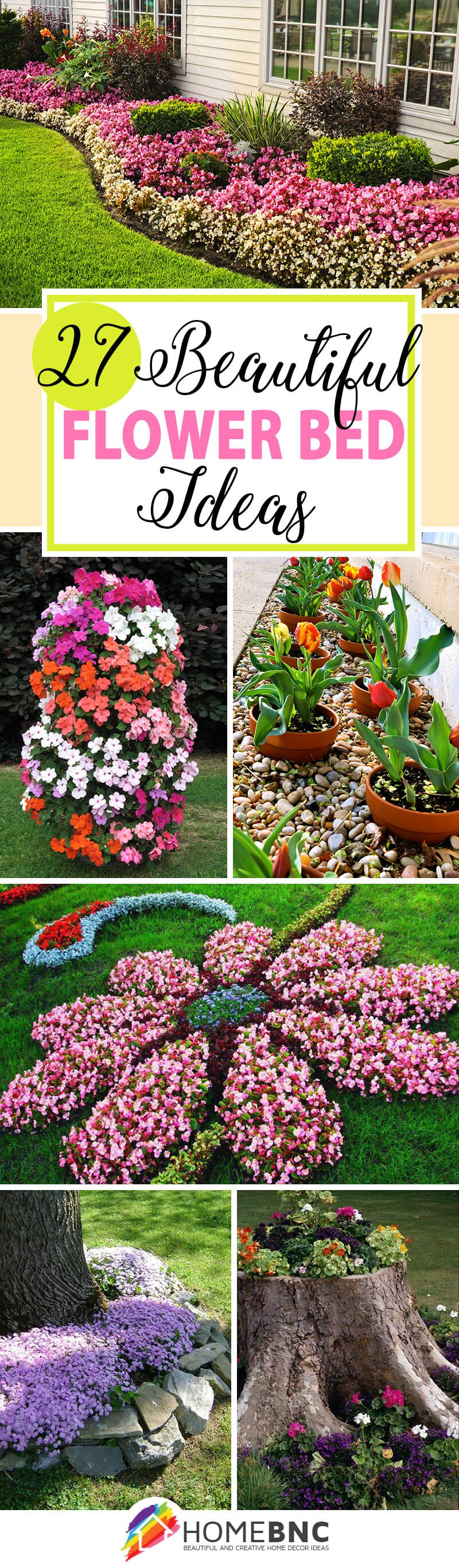27 gorgeous and creative flower bed ideas to try flower for Landscape design flower beds