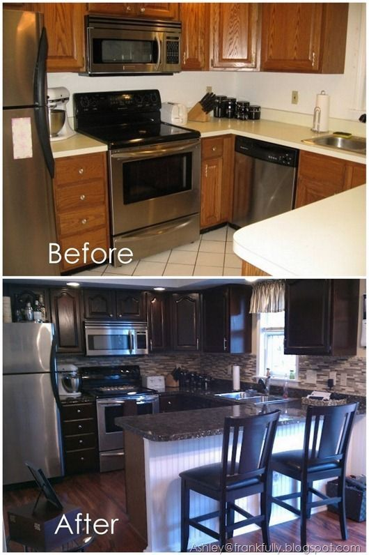 Small Kitchen  For The Home  Pinterest  Kitchens House Simple Small Kitchen Remodel Ideas Decorating Inspiration