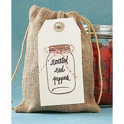 Burlap Treat Bag And Hang Tag Paper Source