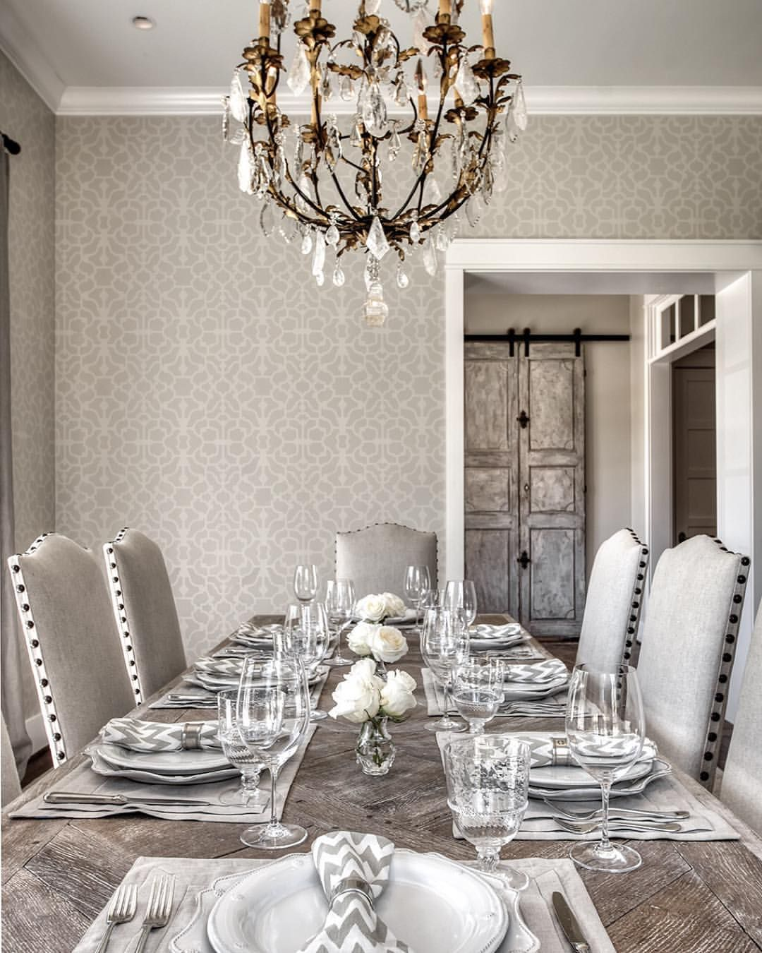 Watch Out For These Dining Room Trends For 2018: Diy Wall Painting, Stencils, Diy Home