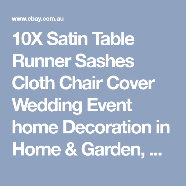 10x satin table runner sashes cloth chair cover wedding event home 10x satin table runner sashes cloth chair cover wedding event home decoration junglespirit Image collections