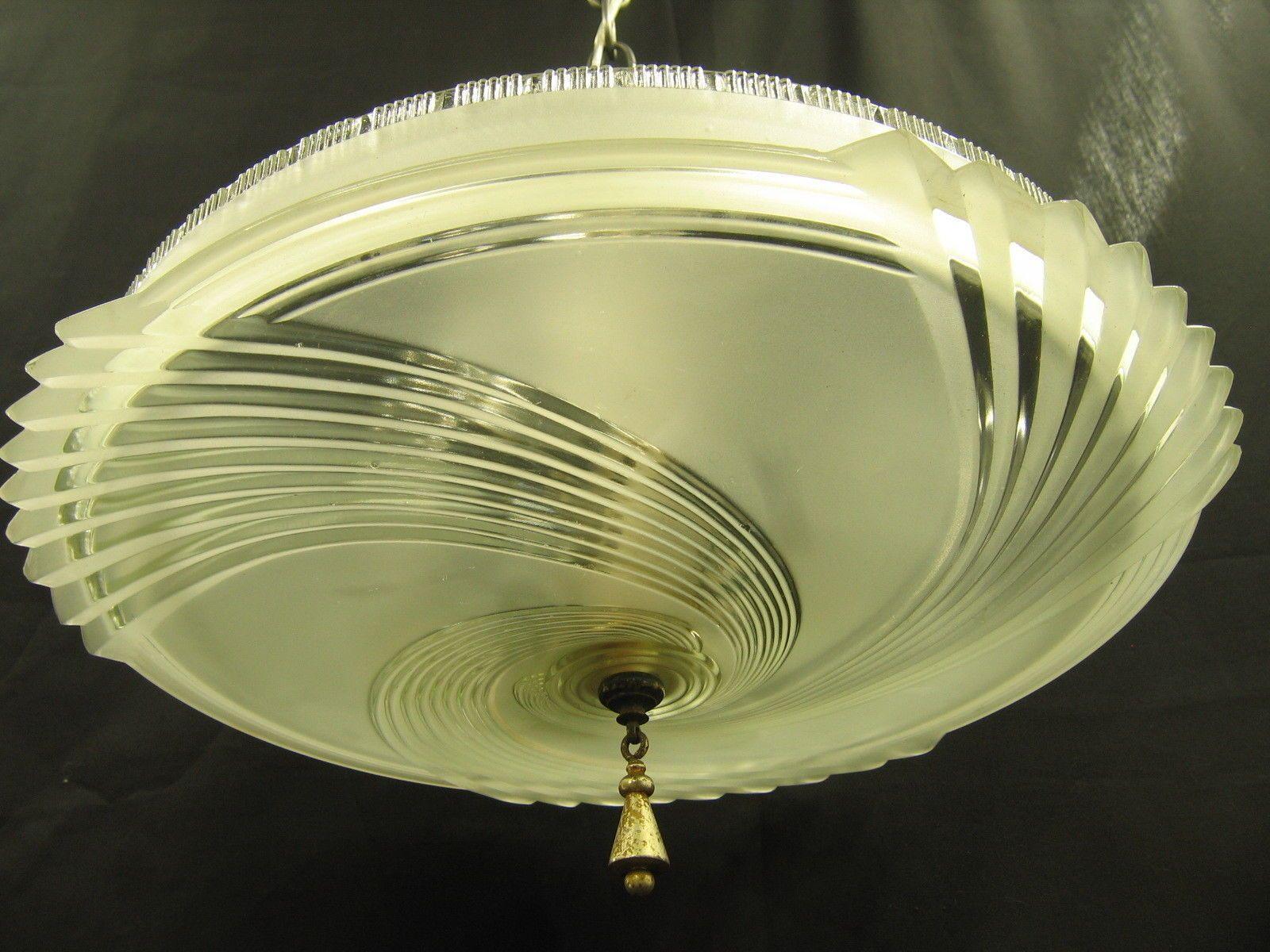0955 art deco ceiling light fixture dome crystal mount rewired 1940 0955 art deco ceiling light fixture dome crystal mount rewired 1940 chandelier arubaitofo Gallery