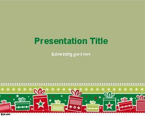 Free Christmas Background Powerpoint Template  Power Points