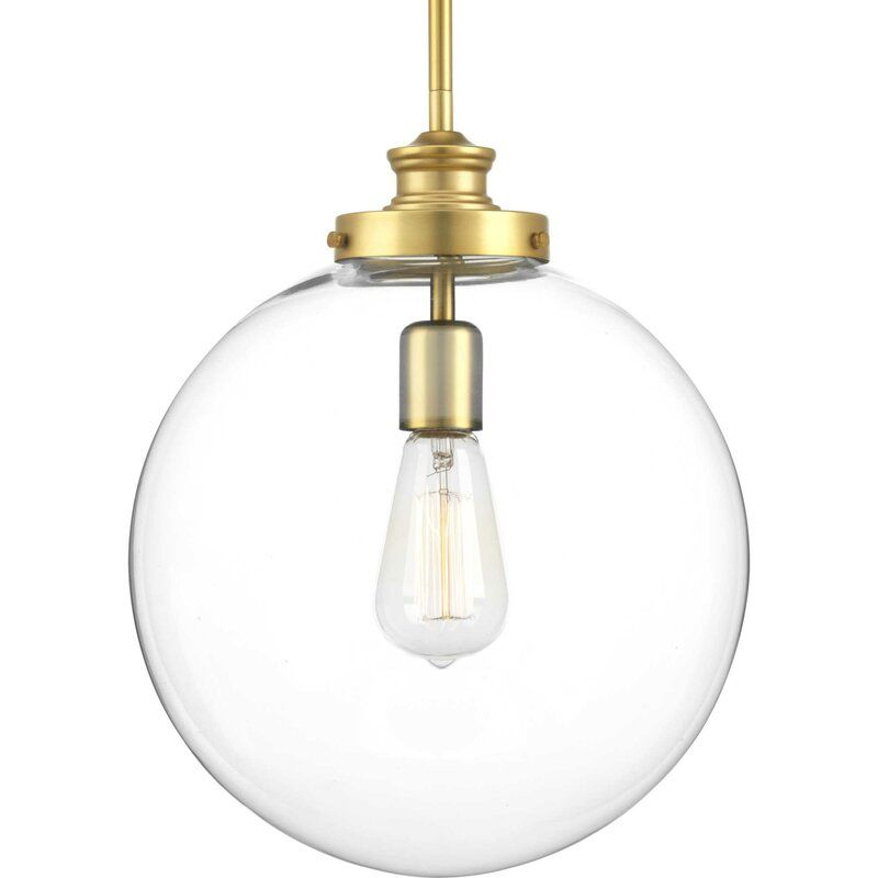 Shelton 1 Light Single Globe Pendant Glass Globe Pendant Light