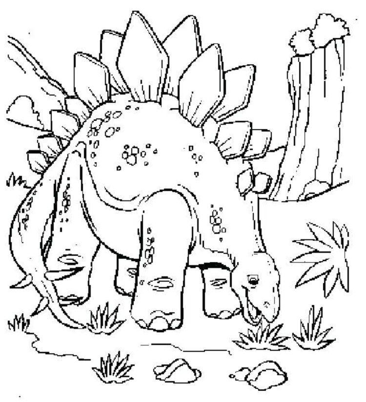 free dinosaur coloring pages preschool Omaľovánky