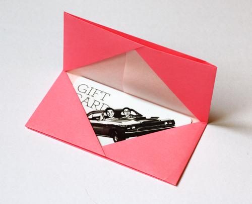 Origami Visitenkartenetui Visitenkartenhalter Origami