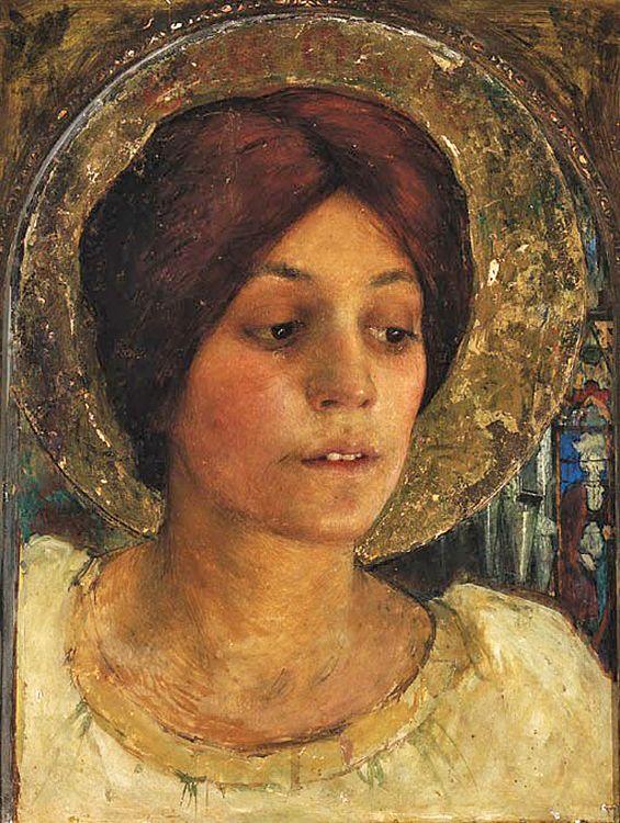 Edgar Maxence (French, 1871-1954). A Female Saint, 1941