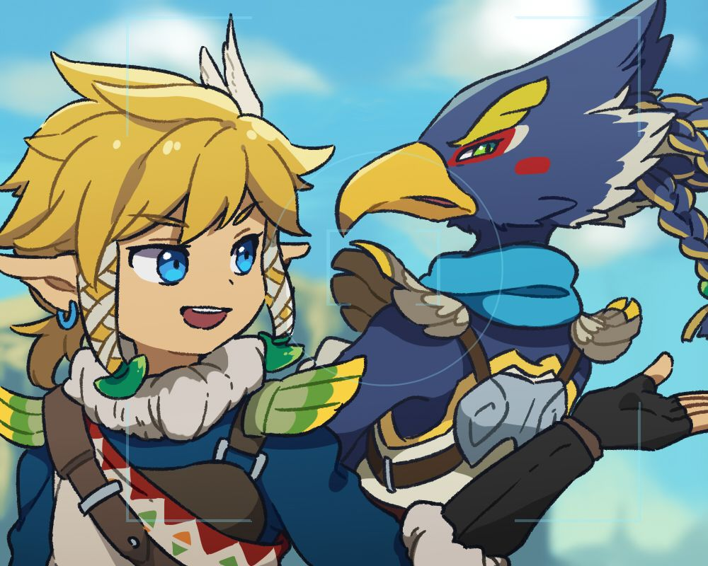 Link And Revali Legend Of Zelda Breath Of The Wild Legend