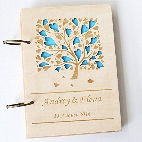 Heart Tree Wedding Gift Rustic Guest Book Custom Guestbook