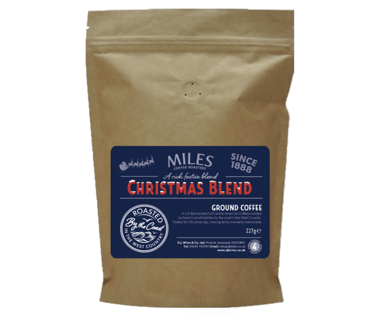 A rich, festive blend of coffee beans, our Christmas Blend