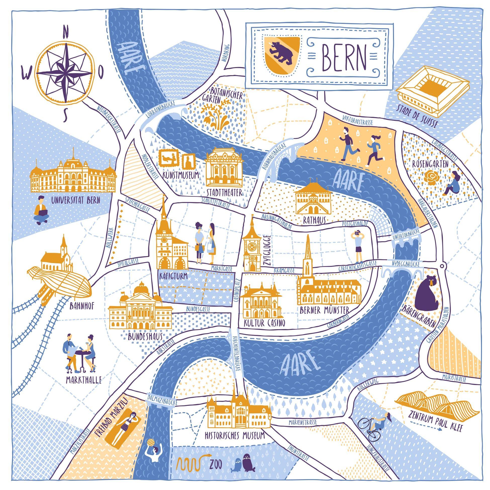 Diseño #19 de DreamMaster | Redesign City Map of Bern ...