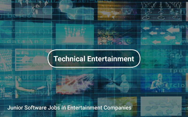 Junior software jobs in entertainment companies https