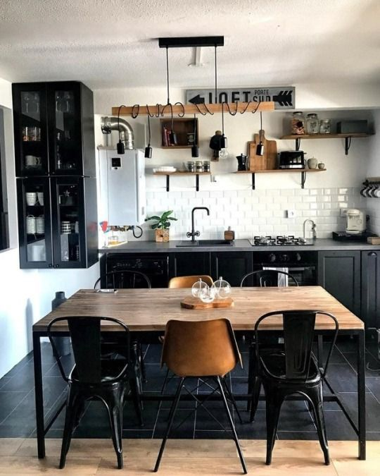 Photo of Kitchen Inspiration : obsessed with industrial – Industriestil Beleuchtung