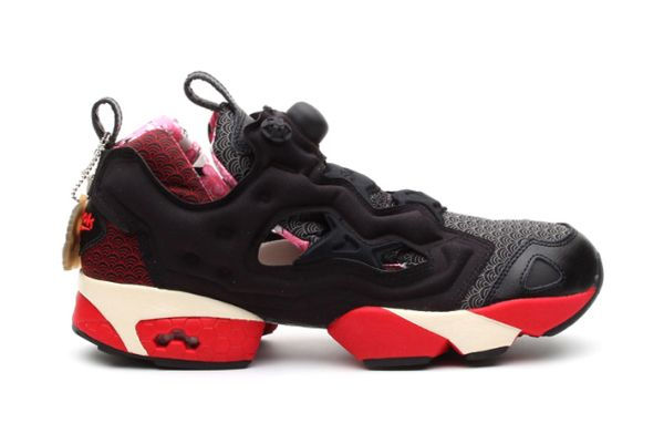 Reebok Insta Pump Fury Excellent Red Black Nuclear
