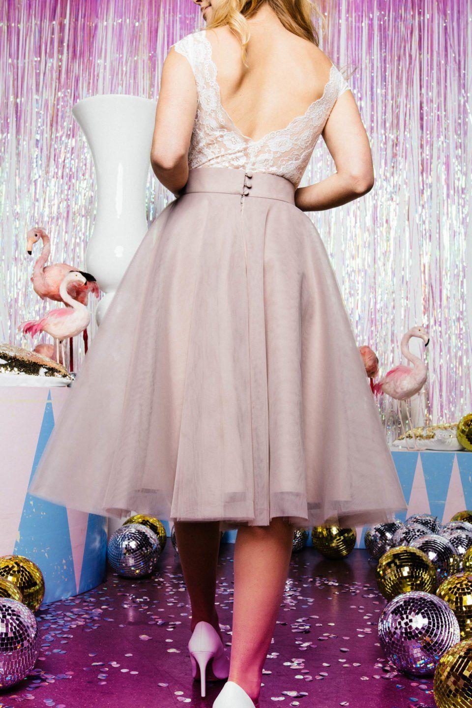 Farbiger Tüllrock für die moderne Braut | Brautmode ...