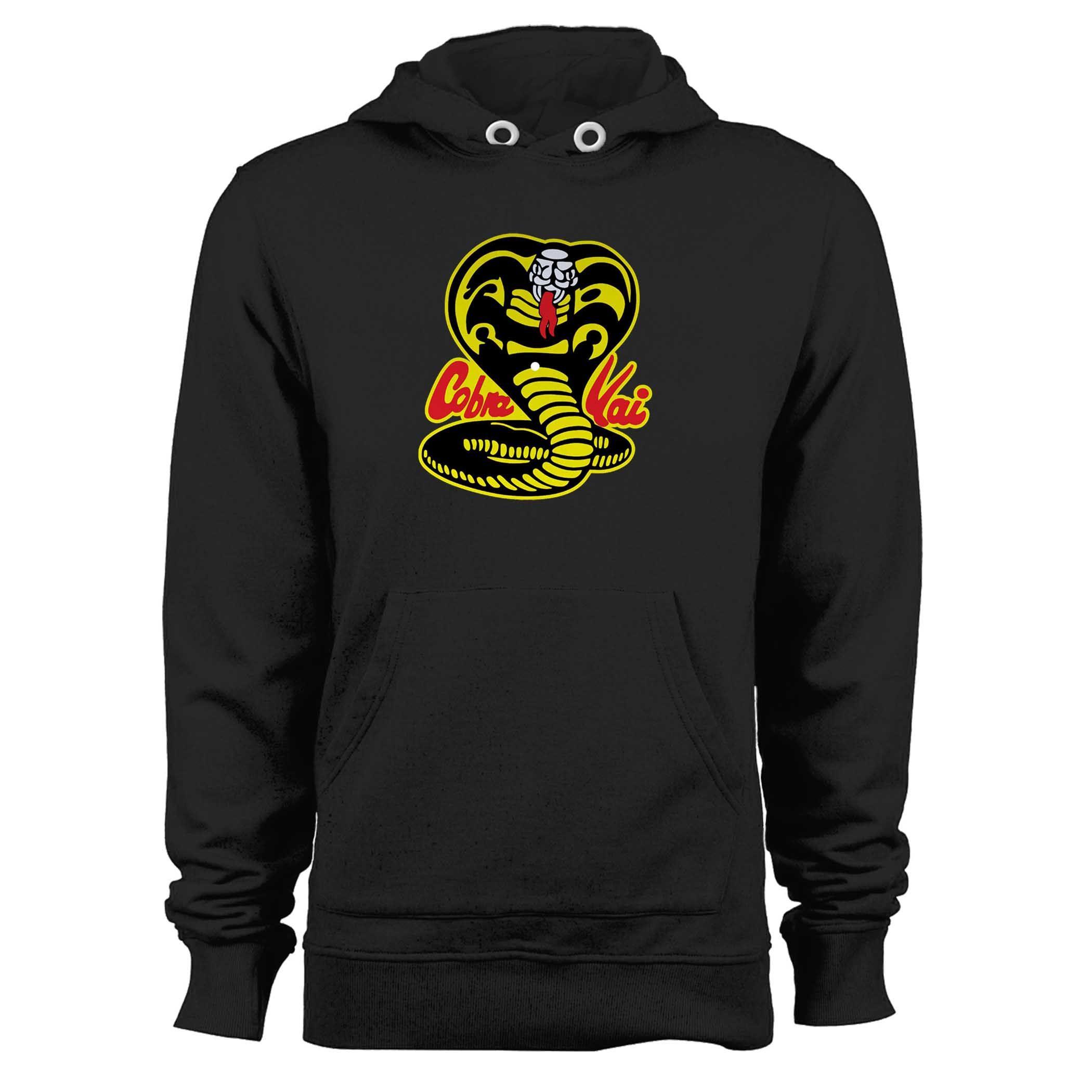 The Karate Kid Cobra Kai Logo Hoodie Karate Kid Cobra Kai Unisex Hoodies Hoodies [ 2100 x 2100 Pixel ]