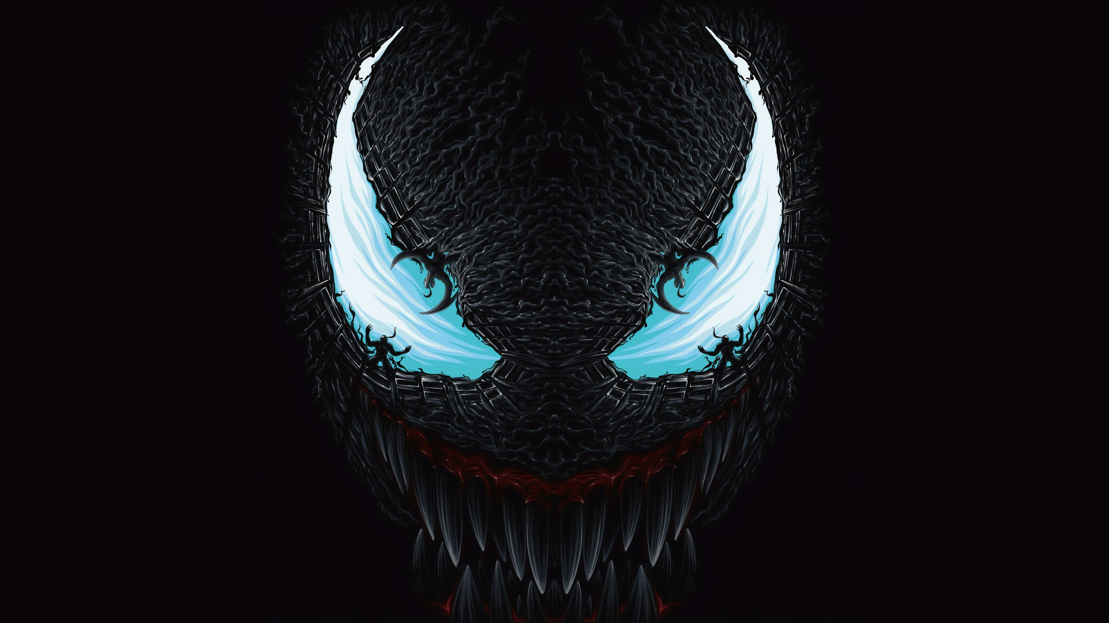 4k Venom Art Blue Venom Wallpapers Superheroes Wallpapers Hd