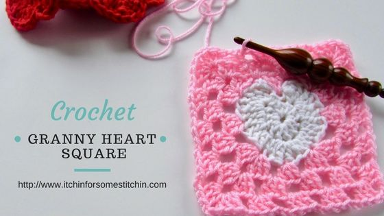 How to Crochet a Granny Heart Square | *JAN\'S OWN HOW 2\'S+STITCHES+ ...