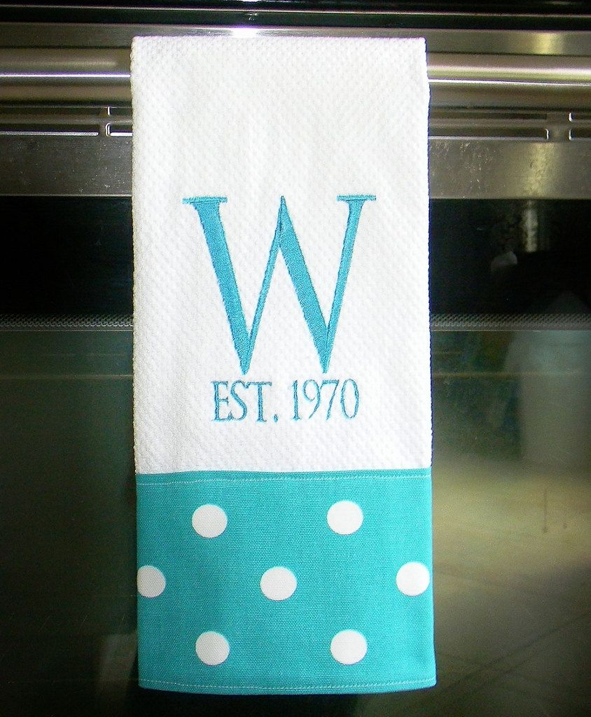 50 Of The Best Housewarming Gifts: Personalized Dish Towel