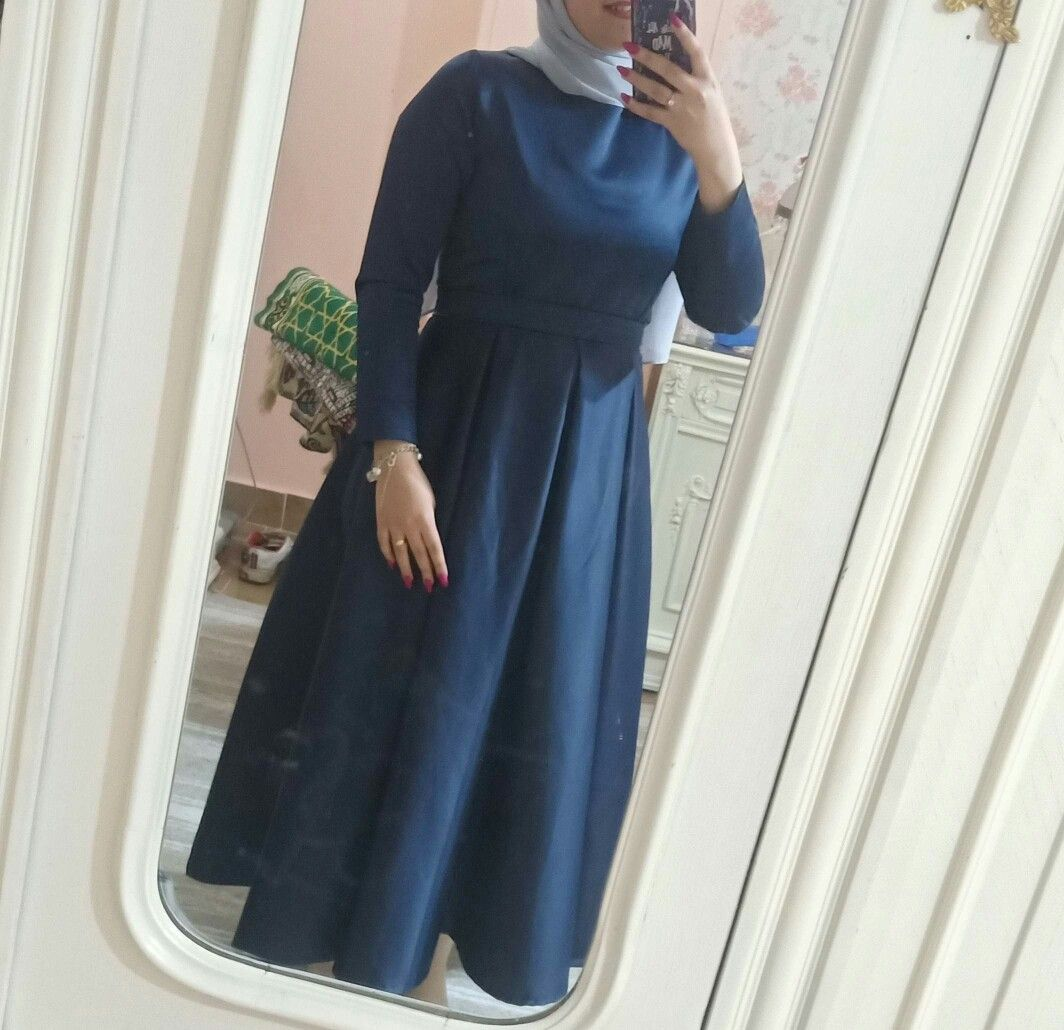 Bosy تفصيل فستان كحلي ستان امريكي واتس اب ٠١٢٧٤٤٠٠٢٥٨ Soiree Dress Hijab Dress Party Party Dress