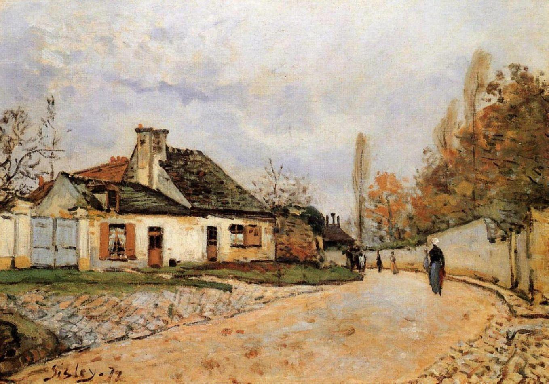 Voisins Street in Louveciennes, 1877.
