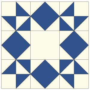 Moonlight Star: FREE Quilt Block Pattern