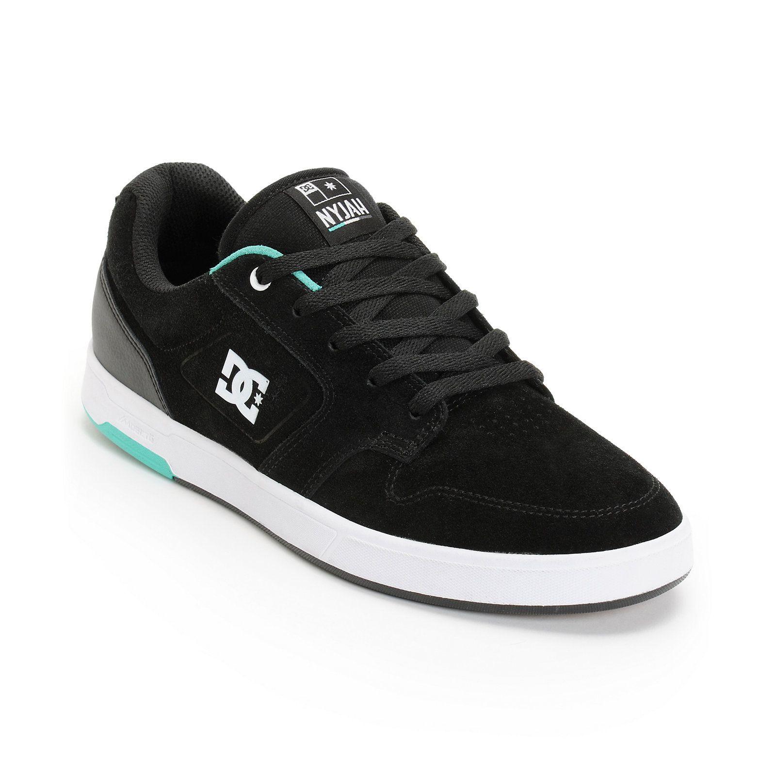 Adidas skate shoes zumiez - Dc Nyjah Huston S Black Mint Skate Shoe At Zumiez Pdp