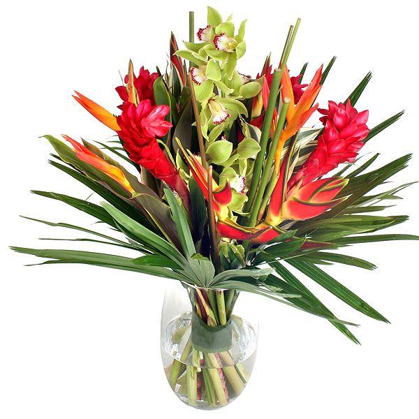 tropical #flower #bouquet   flowers   Pinterest   Tropical flowers ...