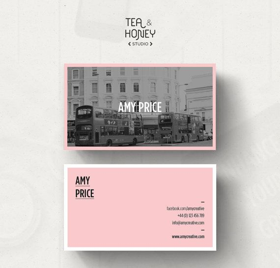 Customizable Business Card Template Calling Unique BC Design Photography Contact Black White And Pink Feminine Look Frame